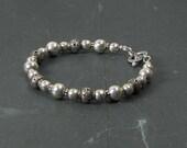 Elegant Sterling and Bali Silver Bracelet