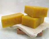 Handmade Organic Carrot Soap, Cold Process Olive Oil Soap