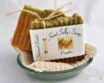 Handmade Organic Pumpkin Soap, Hot Process Soap, Vegan