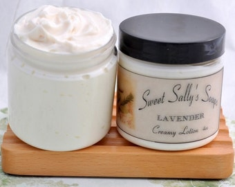 Lavender Creamy Lotion 4oz, Rich and Moisturizing Lotion