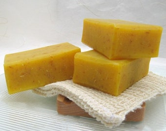 Organic Carrot Soap, Orange, Organic Soap, Oatmeal Soap