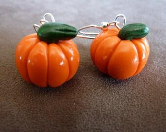 Pumpkin Earrings For Fall