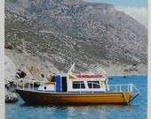 SALE - ACEO Art Photography - Travel to Crete - Fishing Boats 006