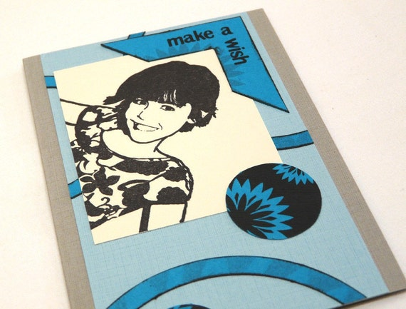 Make A Wish Greeting Card with envelope - OOAK