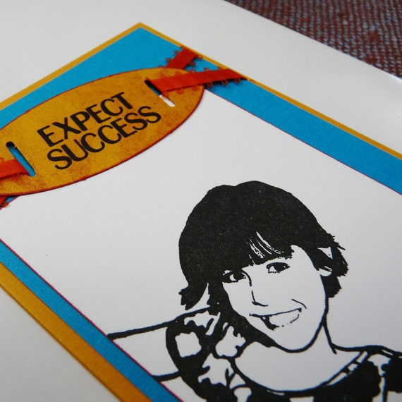 Greeting Card Expect Success with envelope - OOAK