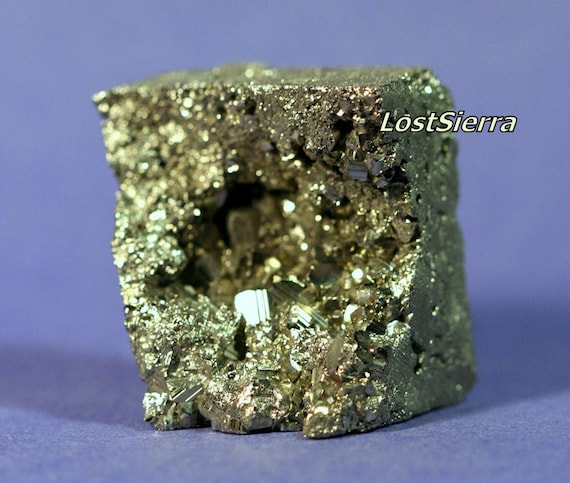 DRAMATIC Chilean Andes Pyrite Designer Cabochon all Sides Sliced w/Flat Bottom