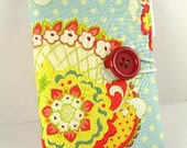 Organizer Notepad Clutch Journal List Taker Bill Organizer POP GARDEN PAISLEY Paper and Pen are Included