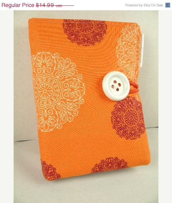 Journal Mini Organizer Notepad Clutch ZEST in Orange Paper and Pen are Included