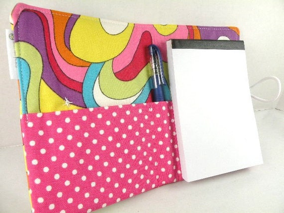 Organizer Notepad Clutch Journal MOD SQUAD Paper and Pen are Included