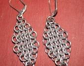 xxStore SALExx European 4 in 1 Chainmaille Earrings Bright Aluminum