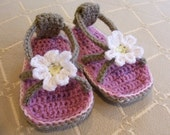 CROCHET PATTERN Daisy Baby Flip Flops - Baby and Toddler - Pattern PDF