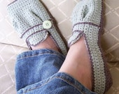 Download Now - CROCHET PATTERN Ladies Sporty-Casual Crocheted Flats - Pattern PDF