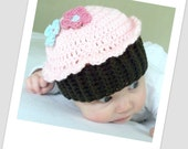 Download Now - CROCHET PATTERN Cupcake Cutie Hat - Baby and Toddler - Pattern PDF