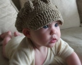 CROCHET PATTERN Sectioned Newsy Hat - Baby to Adult - Pattern PDF
