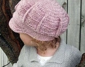 Download Now - CROCHET PATTERN Sectioned Newsy Hat - Baby to Adult - Pattern PDF