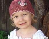 CROCHET PATTERN Rosebud Beanie - Baby to Adult - Pattern PDF