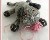 Download Now - CROCHET PATTERN Playful Kitten - Amigurumi - Pattern PDF
