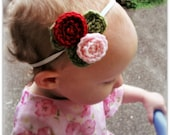 Download Now - CROCHET PATTERN Spiral Rose Headband - All Sizes - Pattern PDF