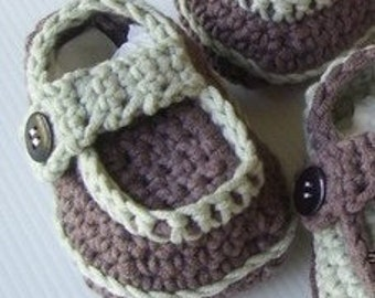 Download Now - CROCHET PATTERN Side-Button Loafers - Pattern PDF