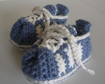 Download Now - CROCHET PATTERN 3-Stripe Baby Tennis Shoes  - Pattern PDF