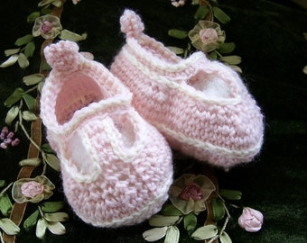 Download Now - CROCHET PATTERN T-Strap Mary Jane Baby Shoes - Pattern PDF