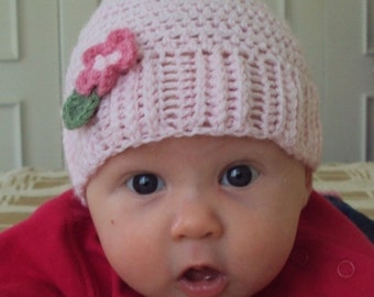 Download Now - CROCHET PATTERN Boutique Baby Hat - Pattern PDF