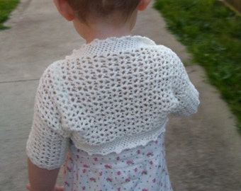 Download Now - CROCHET PATTERN Victorian Shrug - Baby to Adult - Pattern PDF