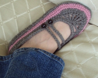 Download Now - CROCHET PATTERN Goodie 2-Strap Ballet Flats - Pattern PDF
