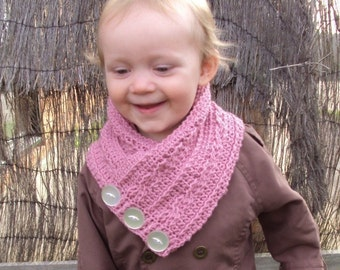 Download Now - CROCHET PATTERN Child's Cabled Neck Warmer - Pattern PDF