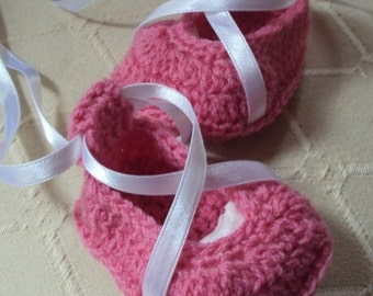 Download Now - CROCHET PATTERN Ballerina Ribbon Shoes - Pattern PDF