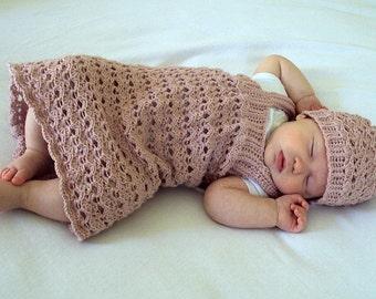 Download Now - CROCHET PATTERN Lace Confection Baby Dress - Pattern PDF