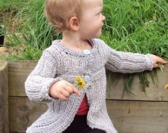 Download Now - CROCHET PATTERN Knit-Look Cardigan - Newborn to 12 years - Pattern PDF