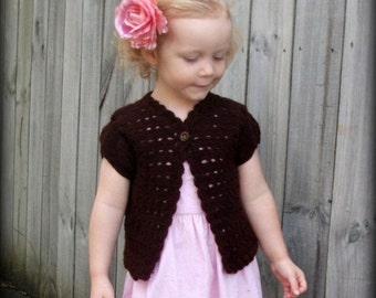 Download Now - CROCHET PATTERN The Sydnee Rose Cardigan - Baby and Toddler - Pattern PDF