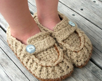 Download Now - CROCHET PATTERN Modern Loafers - Youth Sizes 6.5-8.5 - Pattern PDF