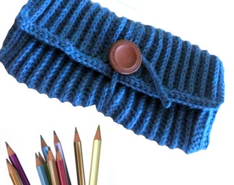 Download Now - CROCHET PATTERN Ribbed Pencil or Crochet Hook Case - Pattern PDF