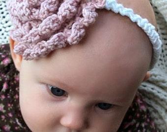 Download Now - CROCHET PATTERN Carnation Headband - Any Size - Pattern PDF