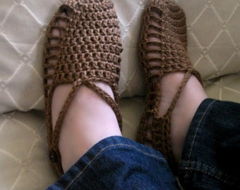 Download Now - CROCHET PATTERN Easy Crocheted Sandals - Pattern PDF