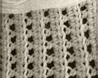 Download Now - CROCHET PATTERN Openwork Knit-Look Blanket - Any Size - Pattern PDF