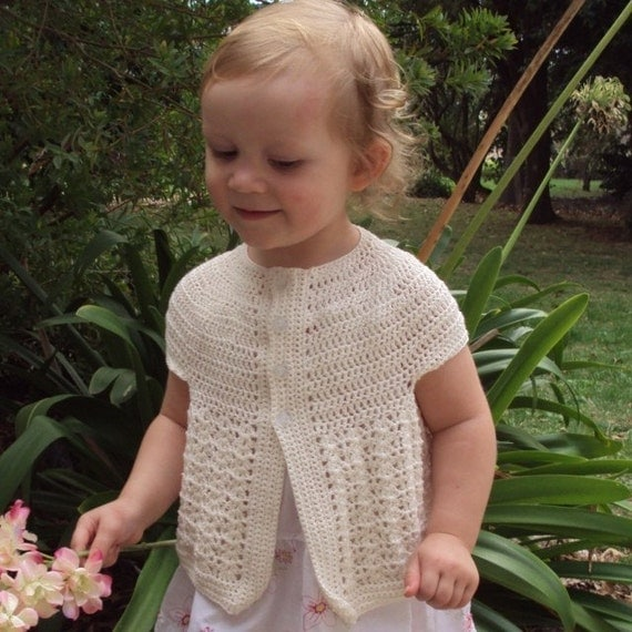 Download Now - CROCHET PATTERN Seamless Cardigan - Baby and Toddler - Pattern PDF