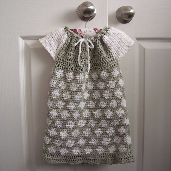 Download Now - CROCHET PATTERN Crocheted Peasant Dress for Baby or Toddler - Pattern PDF
