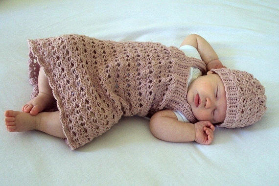Download Now - CROCHET PATTERN Lace Confection Baby Dress - Pattern PDF