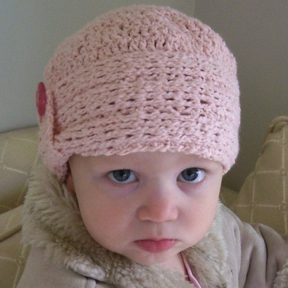 Download Now - CROCHET PATTERN Knit-Look Crocheted Cloche - Baby to Adult - Pattern PDF