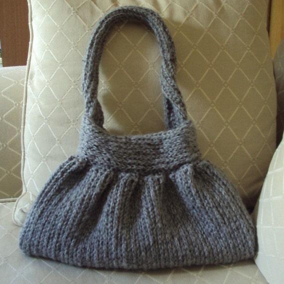 Download Now - CROCHET PATTERN Knit-Look Crocheted Handbag - Pattern PDF