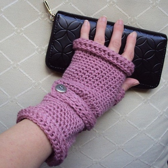 Download Now - CROCHET PATTERN Ladies Wristed Mittens or Fingerless Gloves - Pattern PDF