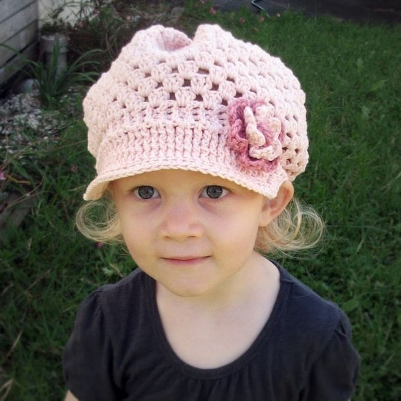 Download Now - CROCHET PATTERN Very Girly Brimmed Hat - Baby to Adult - Pattern PDF