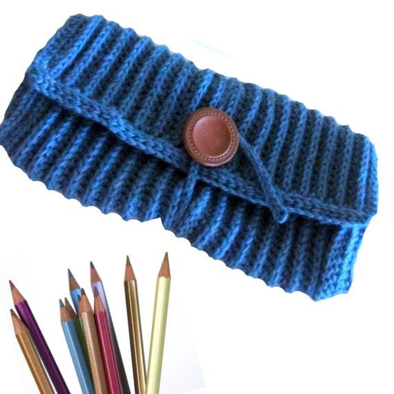 CROCHET PATTERN Ribbed Pencil or Crochet Hook Case - Pattern PDF