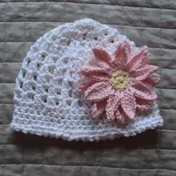 Download Now - CROCHET PATTERN Upsy Daisy Beanie - Baby and Youth - Pattern PDF