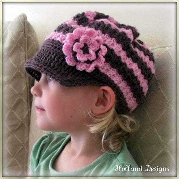 Download Now - CROCHET PATTERN Flower Petal Newsy Hat - Baby to Adult - Pattern PDF