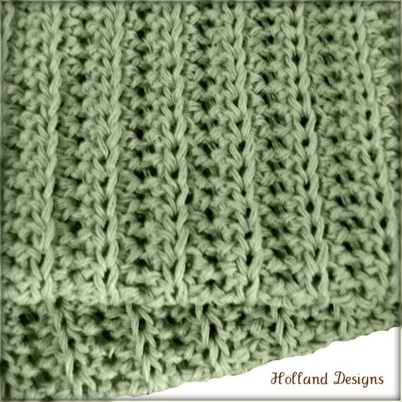 Download Now - CROCHET PATTERN Simple Knit-Look Blanket - Any Size - Pattern PDF