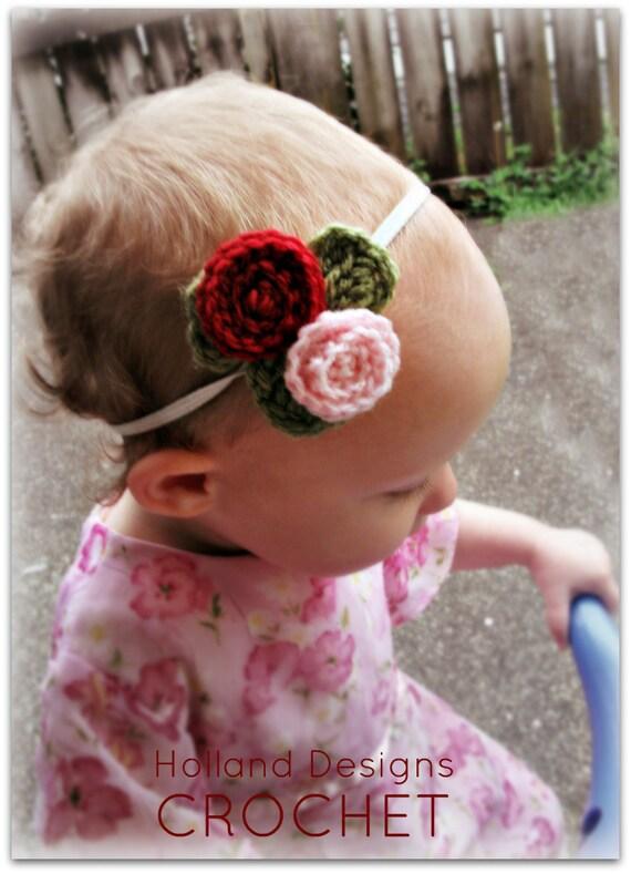 Download Now - CROCHET PATTERN Spiral Rose Headband - All Sizes - Pattern PDF